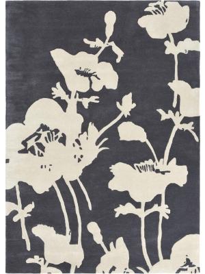 Floral 300 Charcoal • Online Tapijten