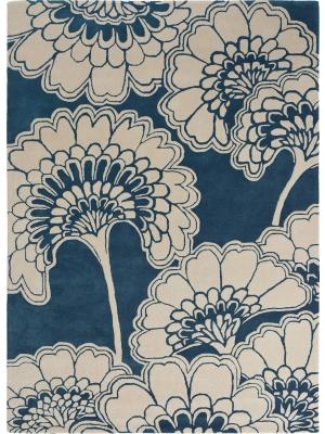 Japanese Floral Midnight • Online Tapijten