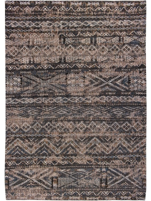 Antiquarian - Kilim Black Rabat • Online Tapijten