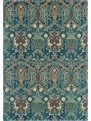 Granada Indigo / Rood • Online Tapijten