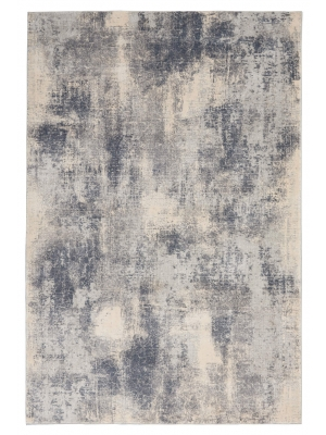 Rustic Textures blue ivory • Teppiche Online