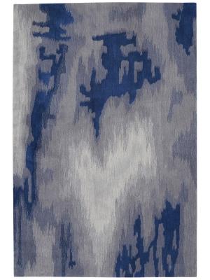 Symmetry Grey Blue • Online Tapijten