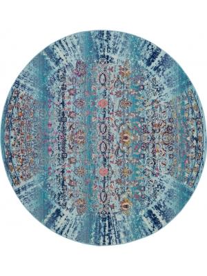 Vintage Kashan R. Blue • Online Tapijten