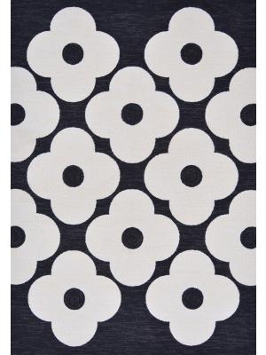 Spot Flower Black 460805