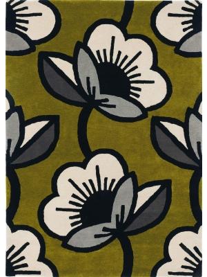Passion flower Olive • Online Tapijten