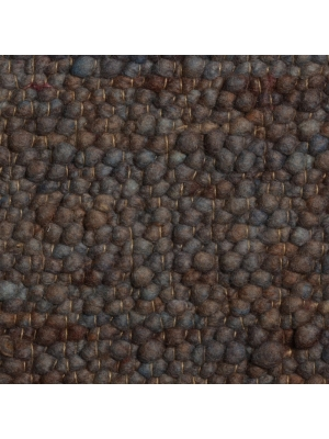 Pebbles Blauw/Bruin • Online Tapijten