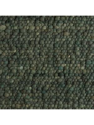 Pebbles Donkergrijs/Groen • Online Tapijten