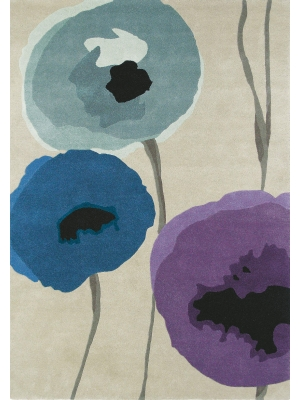 Poppies Indigo/Purple • Online Tapijten