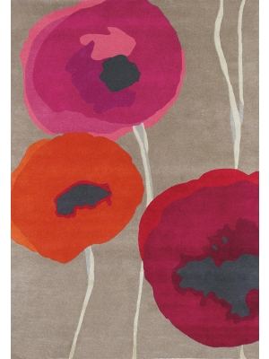 Poppies Red/Orange • Online Tapijten