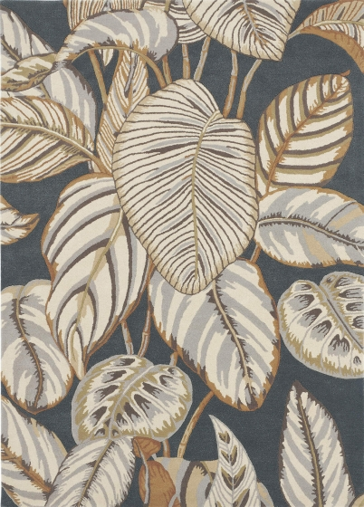 Sanderson   Calathea Charcoal 050805   Tapijt   Online tapijten
