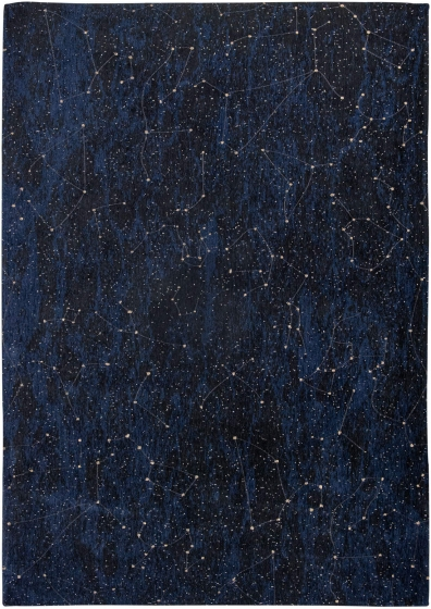 Christian Fischbacher | Celestial Midnight Blue 9060 | Tapijt | Online tapijten
