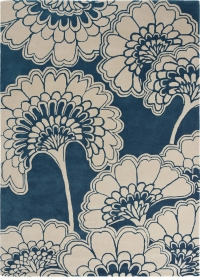 Japanese Floral Midnight 039708