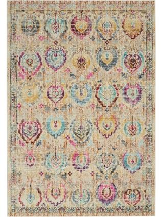 Vintage Kashan Ivory multicoloured • Teppiche Online